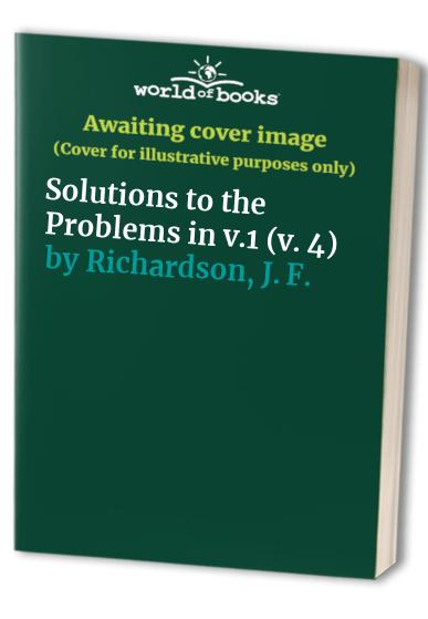 Coulson and Richardson's Chemical Engineering: v. 4: Solutions to the Problems in v.1 by J. R. Backhurst