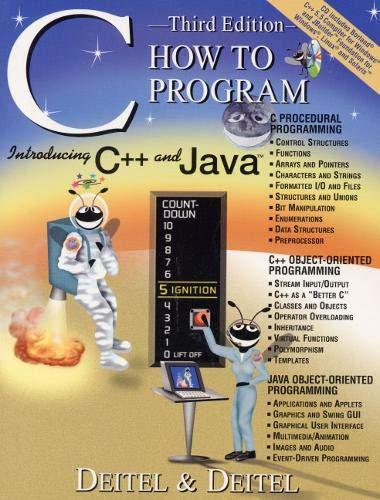 C: How to Program by Harvey M. Deitel