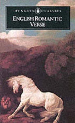 English Romantic Verse by David Wright