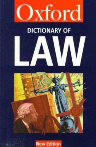 Dictionary of Law by Elizabeth A. Martin