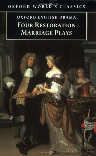 "Four Restoration Marriage Plays: ""Soldier's Fortune"", ""Princess of Cleves"", ""Amphitryon"", ""Wives' Excuse"" by Thomas Otway"