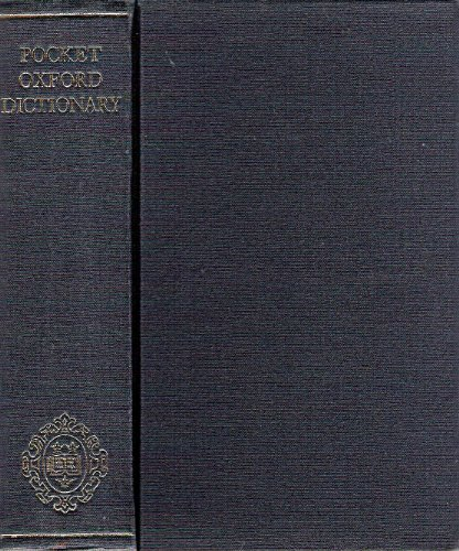 Pocket Oxford Dictionary of Current English by H.W. Fowler