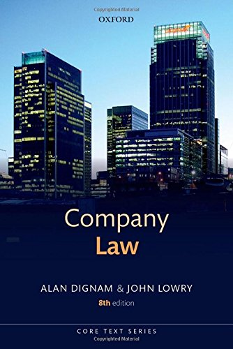 Company Law by Alan Dignam