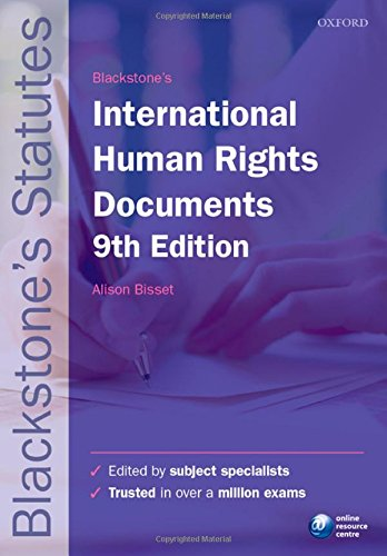 Blackstone's International Human Rights Documents by Alison Bisset