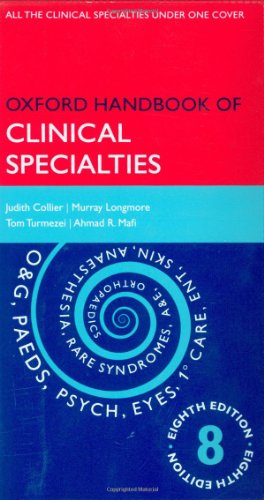 Oxford Handbook of Clinical Specialties by Judith Collier