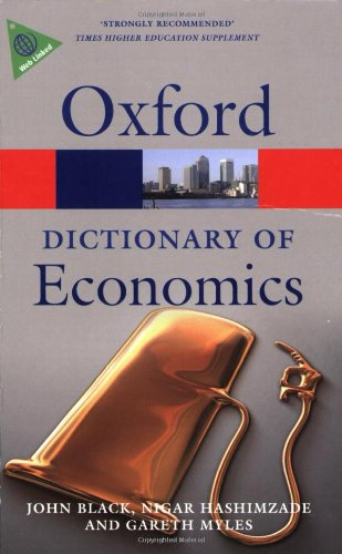 A Dictionary of Economics by John Black