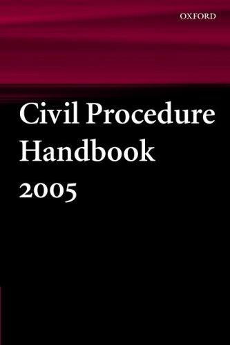 Civil Procedure Handbook: 2005 by Dr Victoria Williams (2 Gray's Inn Square Chambers Barrister, Corum Chambers 2 Gray's Inn Square Chambers Barrister, Corum Chambers 2 Gray's Inn Square Chambers Barrister, Corum Chambers)