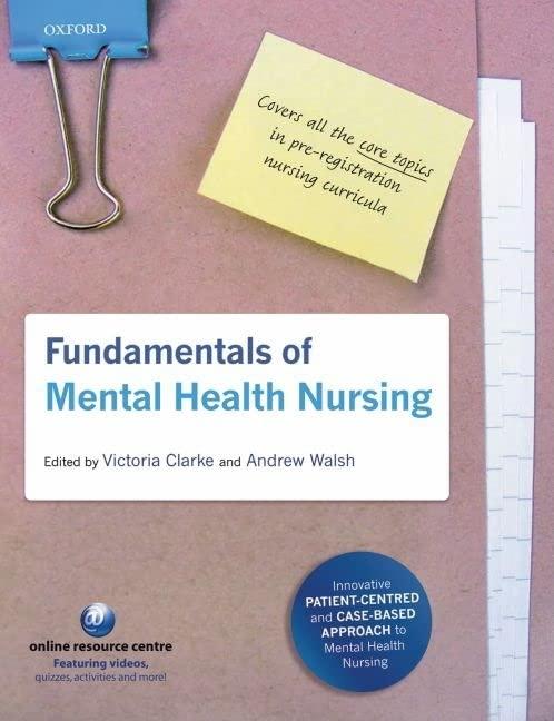 Fundamentals of Mental Health Nursing by Victoria Clarke
