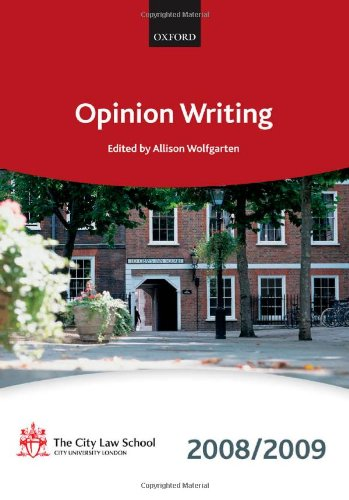 Opinion Writing: 2008-2009 by The City Law School
