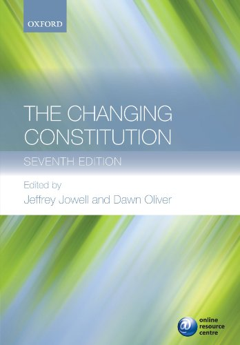 The Changing Constitution by Sir Jeffrey Jowell, QC
