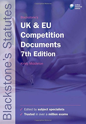 Blackstone's UK and EU Competition Documents by Kirsty Middleton