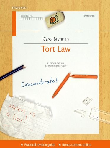 Tort Law Concentrate: Law Revision and Study Guide by Carol Brennan