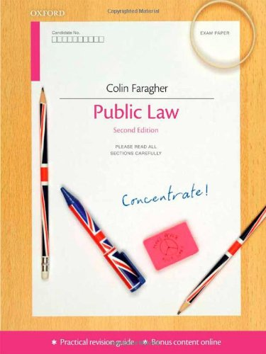 Public Law Concentrate: Law Revision and Study Guide by Colin Faragher