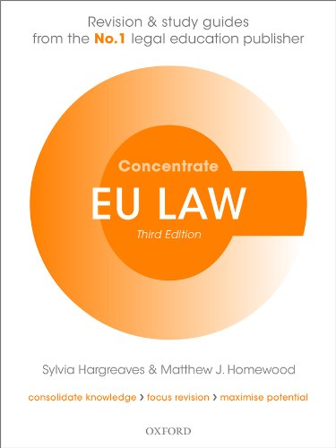 EU Law Concentrate: Law Revision and Study Guide by Sylvia Hargreaves