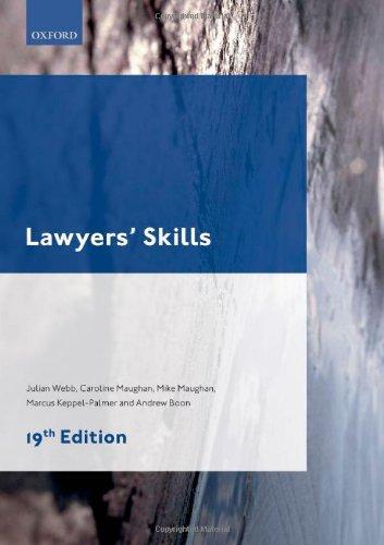Lawyers' Skills by Julian Webb