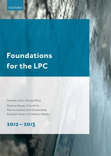 Foundations for the LPC: 2012-13 by George Miles