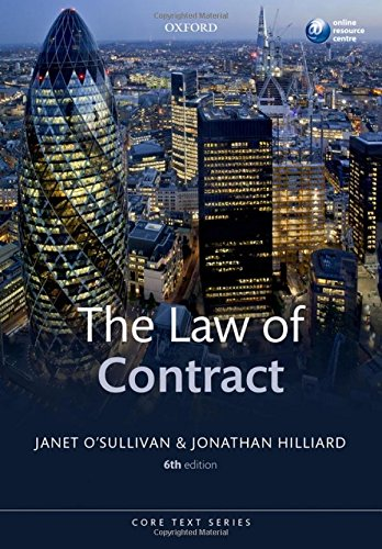 The Law of Contract by Janet O'Sullivan