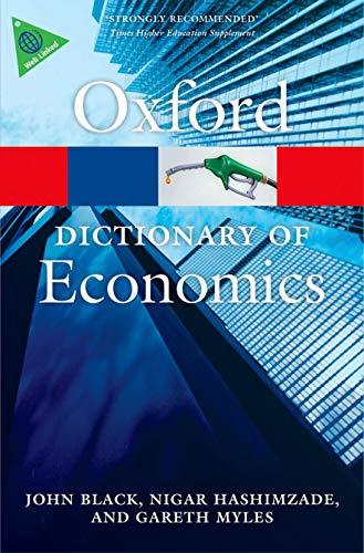 A Dictionary of Economics by John Black