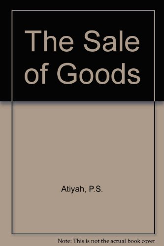 The Sale of Goods by P. S. Atiyah