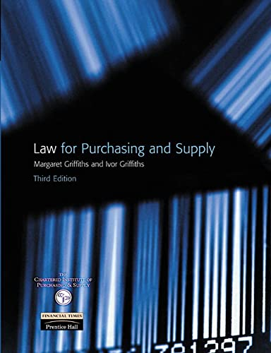 Law for Purchasing and Supply by Margaret Griffiths