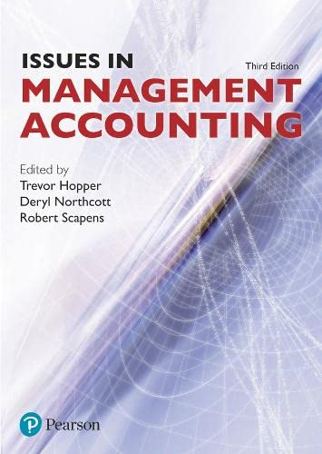 Issues in Management Accounting by Trevor M. Hopper