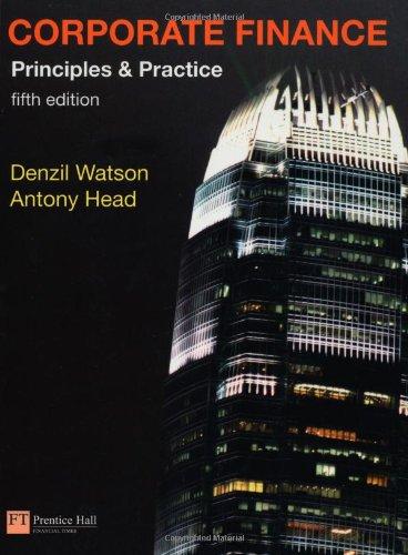 Corporate Finance Book: AND MyFinanceLab XL Card Pack by Denzil Watson