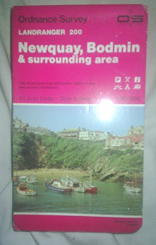 Landranger Maps: Sheet 200: Newquay, Bodmin and Surrounding Area by Ordnance Survey
