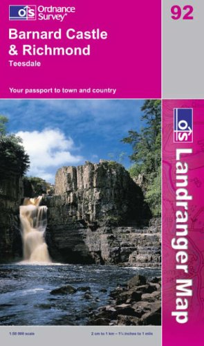 Barnard Castle and Surrounding Area by Ordnance Survey