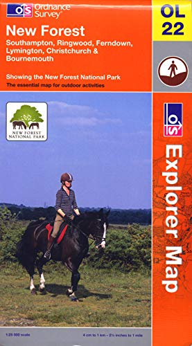 New Forest, Southampton, Ringwood, Ferndown, Lymington, Christchurch and Bournemouth by Ordnance Survey