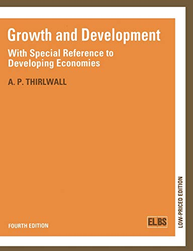 Growth and Development: With Special Reference to Developing Economies: 1989 by A. P. Thirlwall