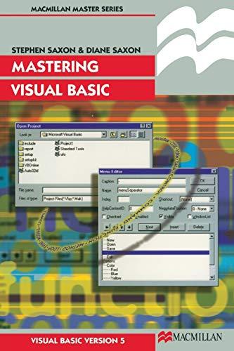 Mastering Visual Basic by Stephen Saxon