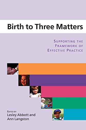 Birth to Three Matters: Supporting the Framework of Effective Practice by Lesley Abbott