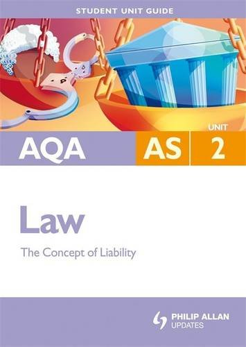 AQA AS Law: The Concept of Liability: Unit 2 by Ian Yule