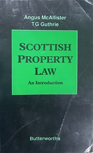 Scottish Property Law: An Introduction by Angus McAllister