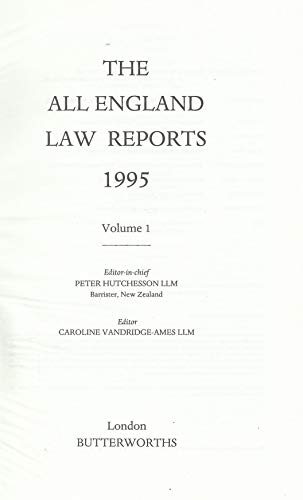 All England Law Reports 1995: Vol 1 by