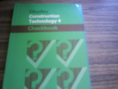 Construction Technology: Level 4 by R. Chudley