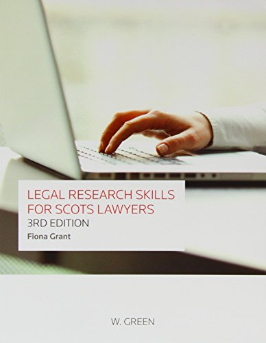 Legal Research Skills for Scots Lawyers by Fiona Grant