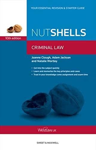 Nutshells Criminal Law by Joanne Clough