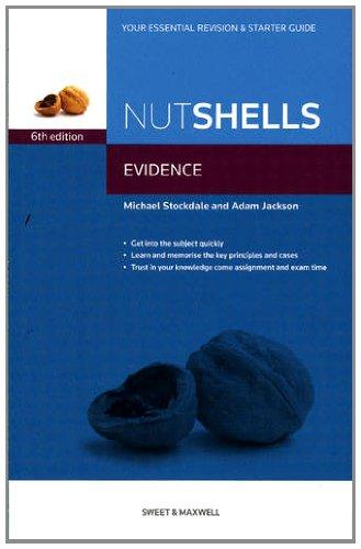 Nutshells Evidence by Michael Stockdale