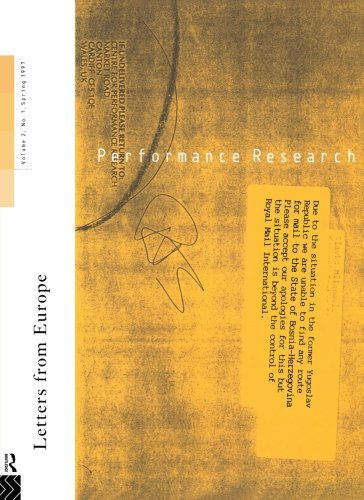Performance Research: Letters from Europe by Ric Allsopp