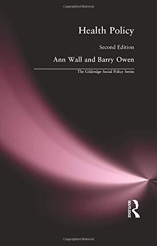 Health Policy by Ann Wall