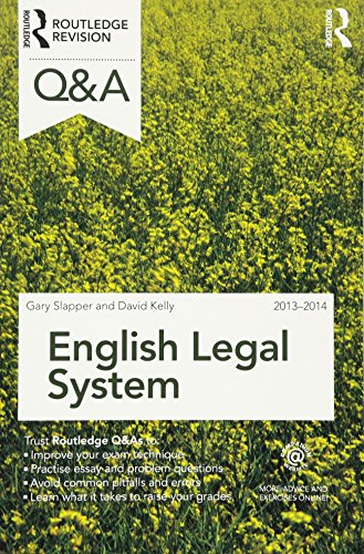 Q&A English Legal System: 2013-2014 by Gary Slapper