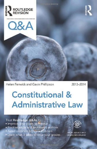 Q&A Constitutional & Administrative Law 2013-2014 by Richard Glancey