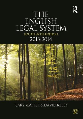 The English Legal System: 2013-2014 by Gary Slapper