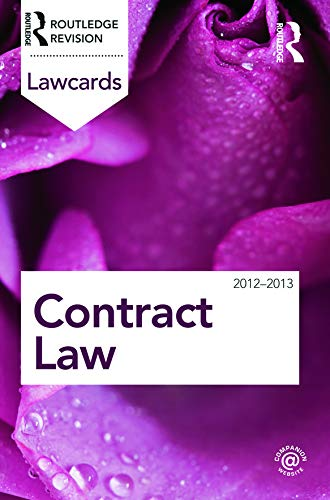 Contract Lawcards 2012-2013 by Routledge