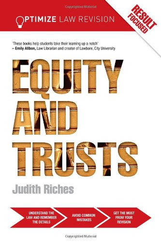 Optimize Equity and Trusts by Judith Riches