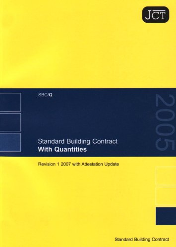 Standard Building Contract with Quantities: 2007 by