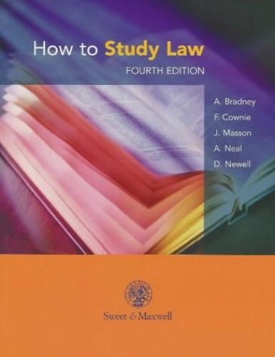 How to Study Law by Anthony Bradney