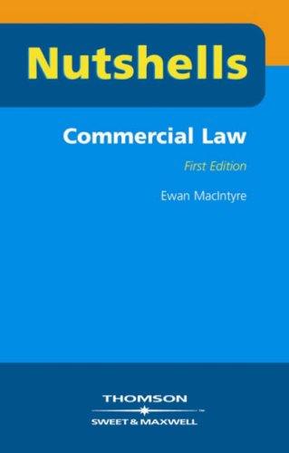 Commercial Law by Ewan MacIntyre