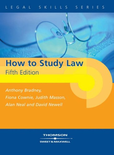 How to Study Law by Anthony Bradney